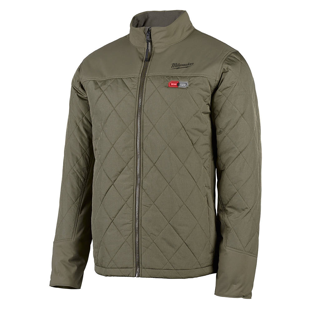 M12 HEATED AXIS JACKET ONLY 2X (OLIVE GREEN)