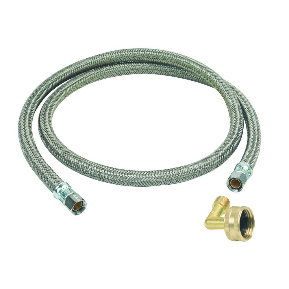 3/8X3/8X48 BRAIDED HOSE DISHWASHER  COMP ENDS WITH