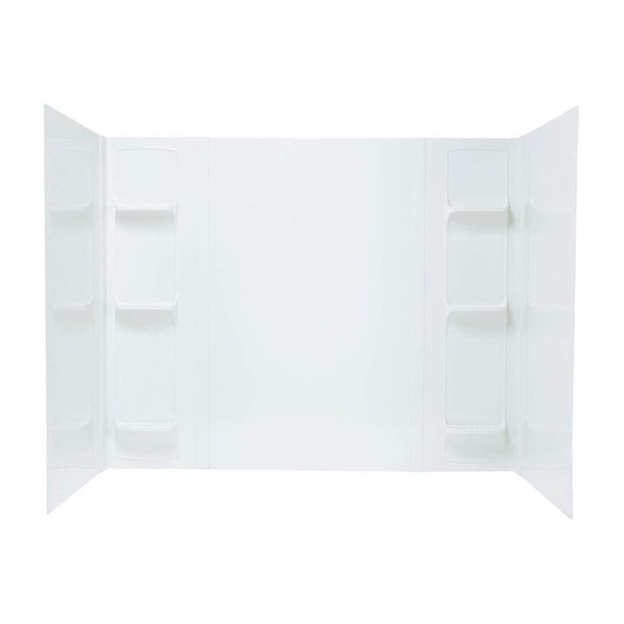 MUSTEE 53 WHITE WALL UNIT 5 PIECE FITS TUBS 60 X 30 DEEP