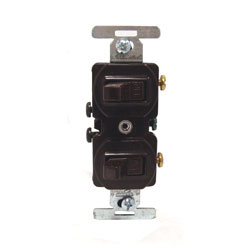 271B TWO SP 15A 120/277V SWITCHES DUPLEX STYLE BROWN