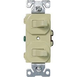 271V TWO SP 15A 120/277V SWITCHES DUPLEX STYLE IVORY