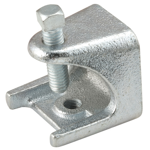 "1/4-20 MALLEABLE BEAM CLAMP 3/4"" THROAT (2) TAPPINGS"