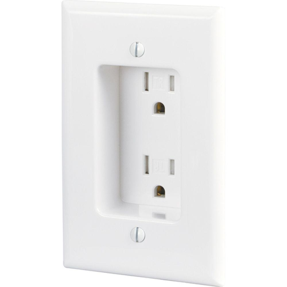 EAGLE TR780-W RECESSED RECPT 15A WHITE CLOCK OUTLET - SCHMIDTS ...