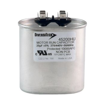 20MFD 370/440V RUN CAPACITOR OVAL 45200HU