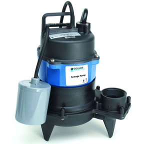 GOULDS WW0511A 1/2 HP SEWAGE PUMP WITH FLOAT SWITCH