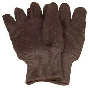 MENS LG BROWN JERSEY 50/50 COTTON/POLY GLOVES