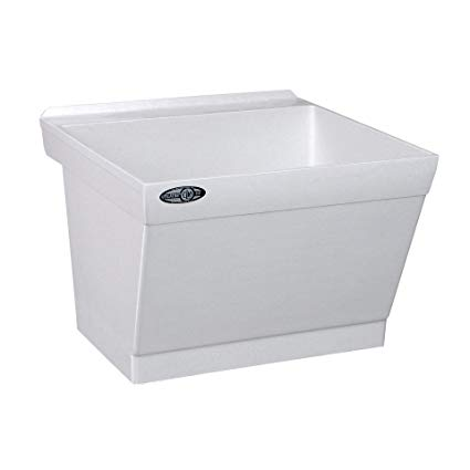 MUSTEE 17W WALL MTD LAUNDRY TRAY W/MOUNTING KIT 23X23.5