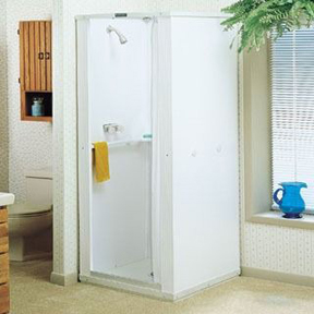 MUSTEE 30 30X30 SHOWER STALL FREESTANDING KNOCK DOWN UNIT