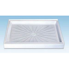 MUSTEE 48X32 WHT SHOWER BASE WITH DRAIN FIBERGLASS