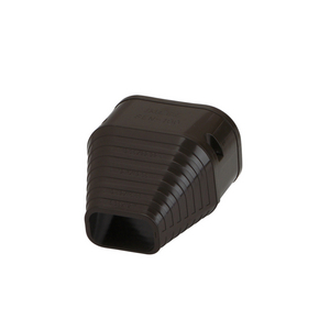 "SLIMDUCT 2.75"" END FITTING BROWN SE-77-B"