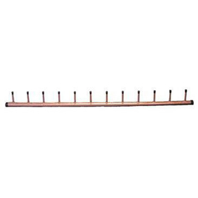 "18 ZONE 1-1/4 X 3/4 X 72 COPPER HEADER, 4"" CENTER"