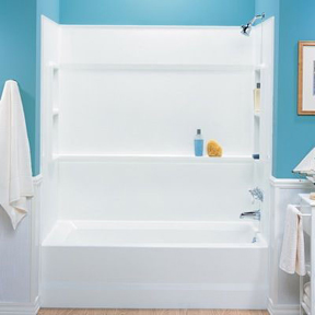 SWAN BA-3060 WHITE VERITEK TUB WALL SET