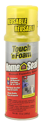 TOUCH 'N FOAM HOME SEAL EXPANDING SEALANT 12OZ.