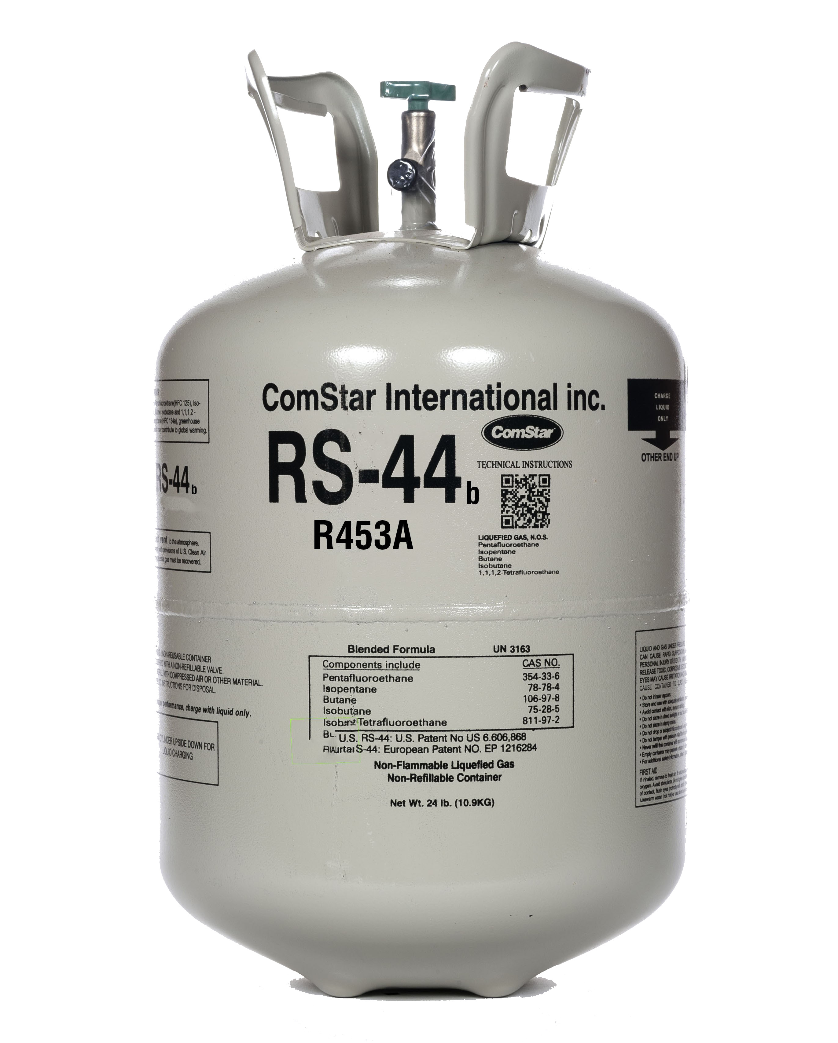 RS44b REFRIGERANT 24LB DISPOSABLE CYLINDER DROP-IN