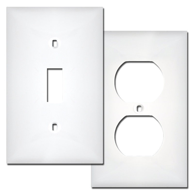WHITE WALLPLATES